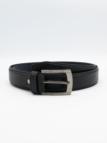 Men Cow Leather Dotted Print Belt