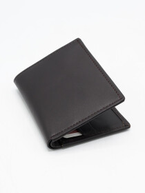 Black Cow Leather Book Wallet for Men
