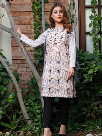 Sea Shore Stitched Lawn Kurti