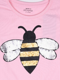 HONEY BEE SEQUENCE SHIRT FOR GIRLS