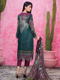 Green Thai Silk Unstitched 2 Piece Suit