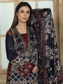 Multicolored Printed Unstitched 2-Piece Silk Suit