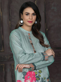 Mint Printed Unstitched Lawn Shirt