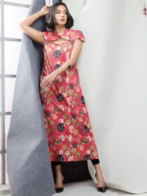 Coral Printed Unstitched Lawn Shirt