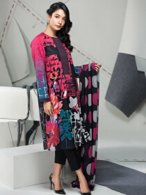 Multicolored Printed 2 Piece Lawn Suit