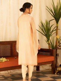Pink Frost Stitched Kurti For Women