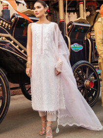 Kaasni by Panache Fully Embroidered Chikankari Lawn Unstitched 3 Piece Suit