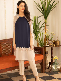 Grey Glow 2 Piece Stitched Suit For Women
