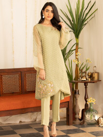 Mystic Garden 2 Piece Stitched Suit For Women