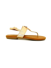Golden Bukle Strap Sandals