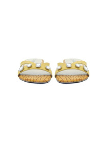 Leena Yellow Sliders For Women