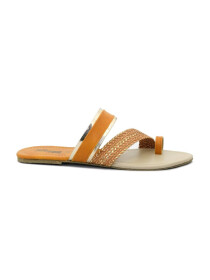 Leena Brown Sliders For Women