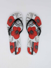 Ipanema White/Red Floral Print Flip-Flop
