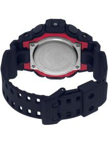 Casio G-Shock Men's Round Black Analog-Digital Black Resin Band Watch