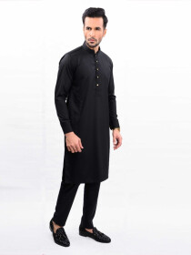 THE JET BLACK SLIM FIT  KURTA PAJAMA