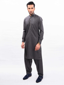 CHARCOAL GREY KURTA SHALWAR REGULAR FIT