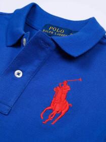 Toddlers / Kids - Cotton Mesh Polo Shirt - Blue