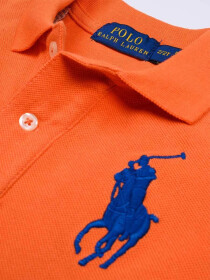 Toddlers / Kids - Cotton Mesh Polo Shirt - Orange
