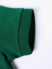 Toddlers / Kids - Cotton Mesh Polo Shirt - Green