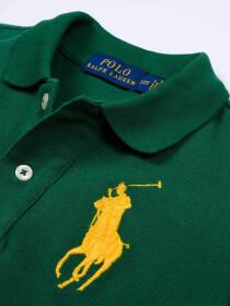 Toddlers / Kids - Cotton Mesh Polo Shirt - Green