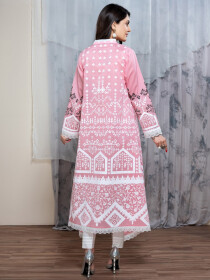 Pink Digital Print Unstitched Shirt for Women