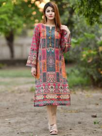 Multicolored Printed Masoori Lawn Unstitched Shirt for Women