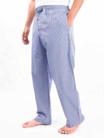 Blue & White Check Soft Cotton Baggy Pajamas