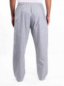 Green & WhiteCheck Cotton Baggy Pajamas