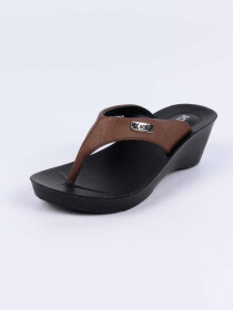 Brown Kito Chappal for Women - UW7070