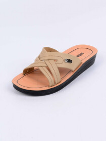 Cream Kito Chappal for Women - AN8W