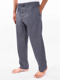 Black & White Check Cotton Blend Relaxed Pajamas