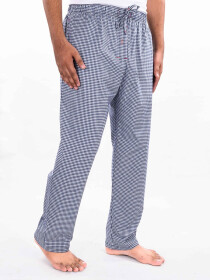 Navy & White Cotton Blend Relaxed Pajamas