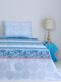 Waving Blue Bedsheet Set