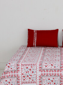 Rosas Enmarcadas Bed Sheet