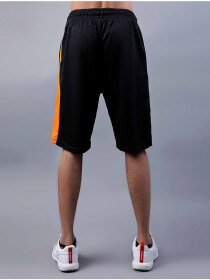 Black/Orange Active Fit Men's Shorts