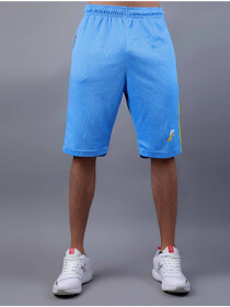 Sky Blue/Yellow Active Fit Men's Shorts
