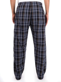 Black & White Plaid Cotton Blend Relaxed Pajama
