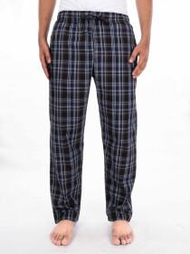 Black & White Plaid Cotton Blend Relaxed Pajama