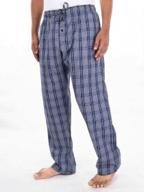 Navy & Multi Cotton Blend Relaxed Pajamas