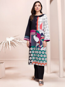 Multicolored Printed Unstitched Lawn Shirt for Women