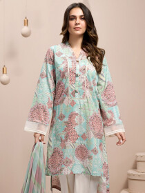 Multicolored Printed 2 Piece Unstitched Lawn Suit for Women