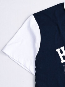 Hueman 2.0 Custom Fit Contrast Tee Blue