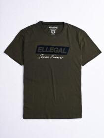 SF Flock Olive Green Cotton Tee Shirt