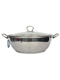 Alpha Stainless Steel Karahi Pot 26Cm