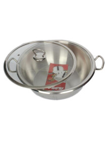 Alpha Stainless Steel Karahi Pot 28Cm