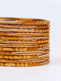 Brown Diaphanous Aluminium Bangles for Women
