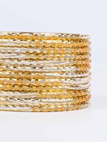 Yellow Diaphanous Aluminium Bangles for Women