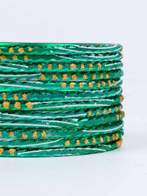 Sea Green Diaphanous Aluminium Bangles for Women
