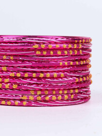 Rose Diaphanous Aluminium Bangles for Women