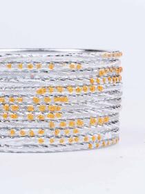 Off White Diaphanous Aluminium Bangles for Women